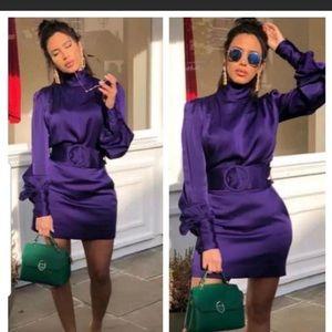 Zara edition limited purple skirt with belt